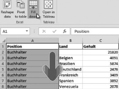 Tableau 7 Excel Add-In for Reshape and Filldown